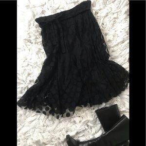 Elegant Sheer Lined Skirt - sz S